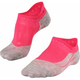 Falke RU4 Calcetines invisibles para correr Mujer, rojo/gris